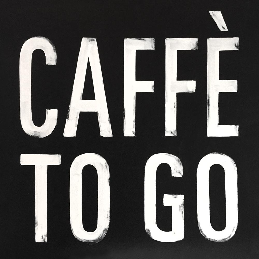 Ristorante Spiga, Tivoli Foodcourt, caffè to go Kreidetafel, Schriftenmalerei, Wandbeschriftung, hand gemalt, Tafelbeschriftung, Tafelmaler