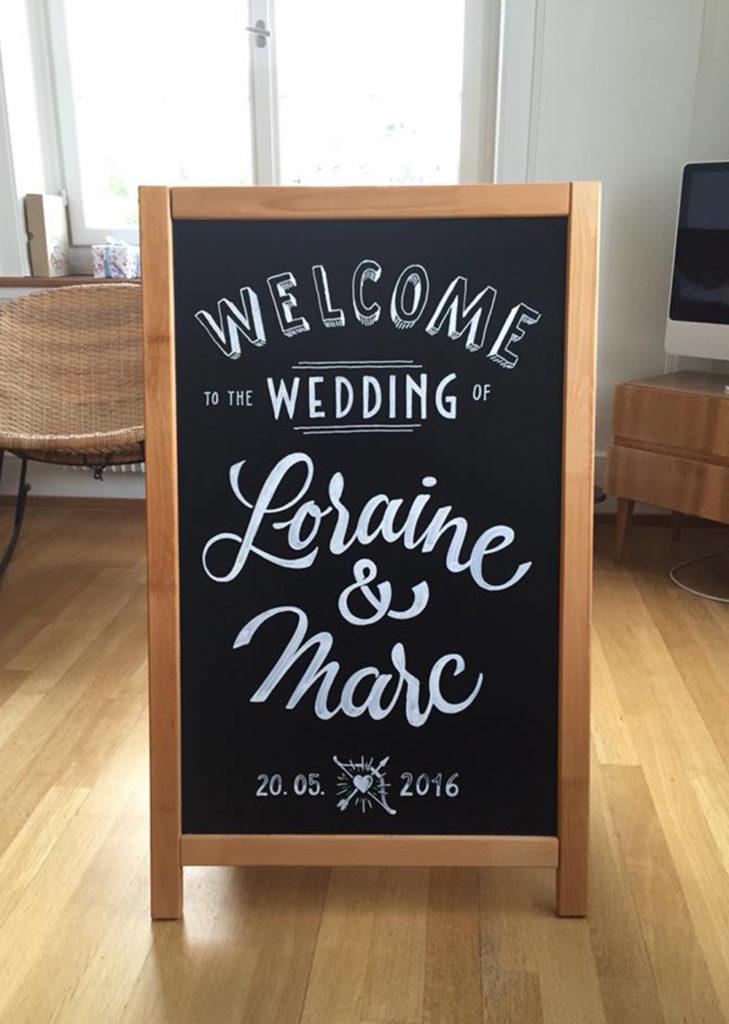 Hochzeit, Wedding, Kundenstopper Kreidetafel, Schriftenmalerei, Wandbeschriftung, hand gemalt, Tafelbeschriftung, Tafelmaler