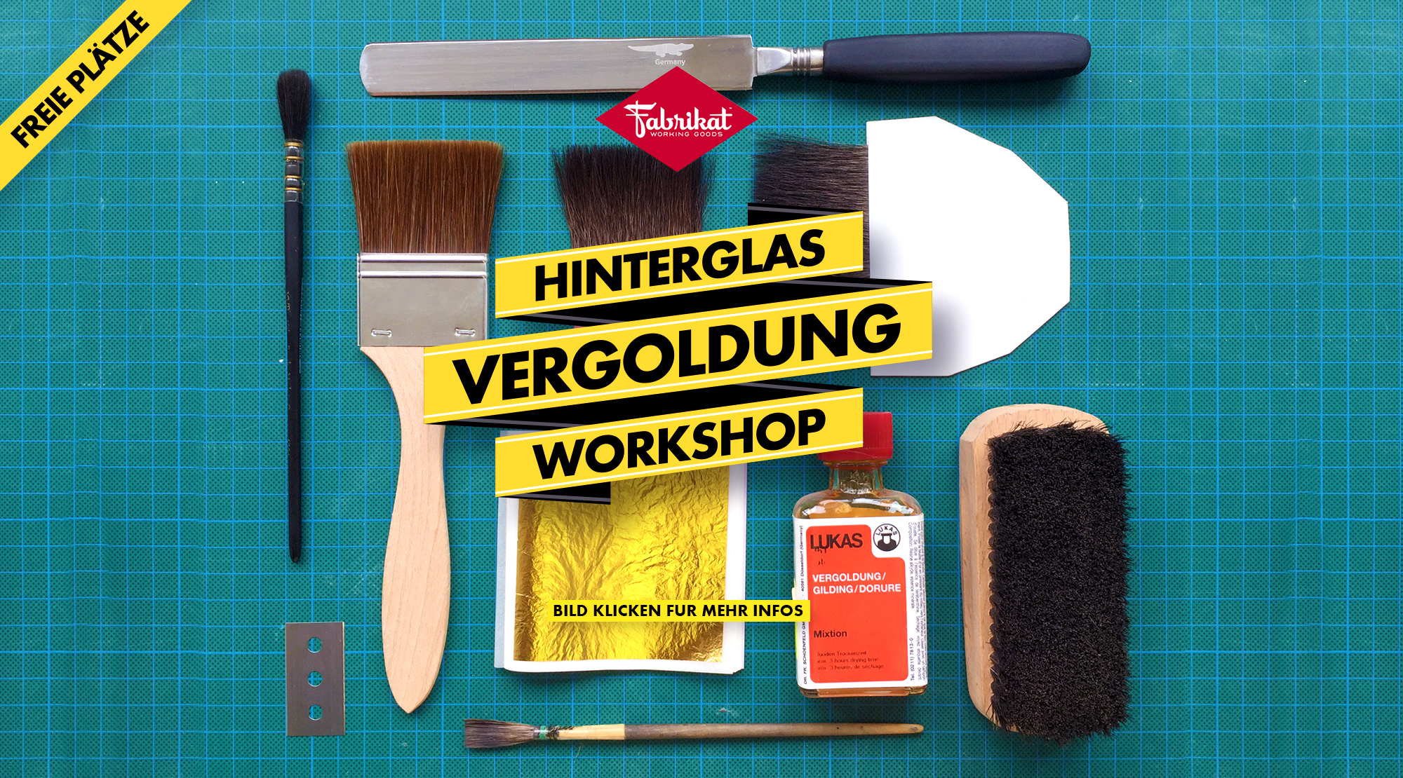 Hinterglasvergoldung Workshop im Fabrikat 21.-22. Oktober 2017 mit Mathias Truniger