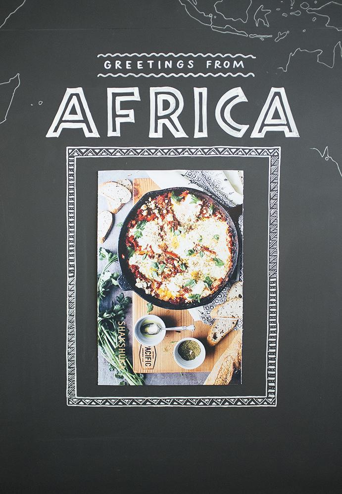 eat.ch, Greetings from Africa, Wandgestaltung Schriftenmalerei, Wandbeschriftung, hand gemalt, Tafelbeschriftung, Tafelmaler