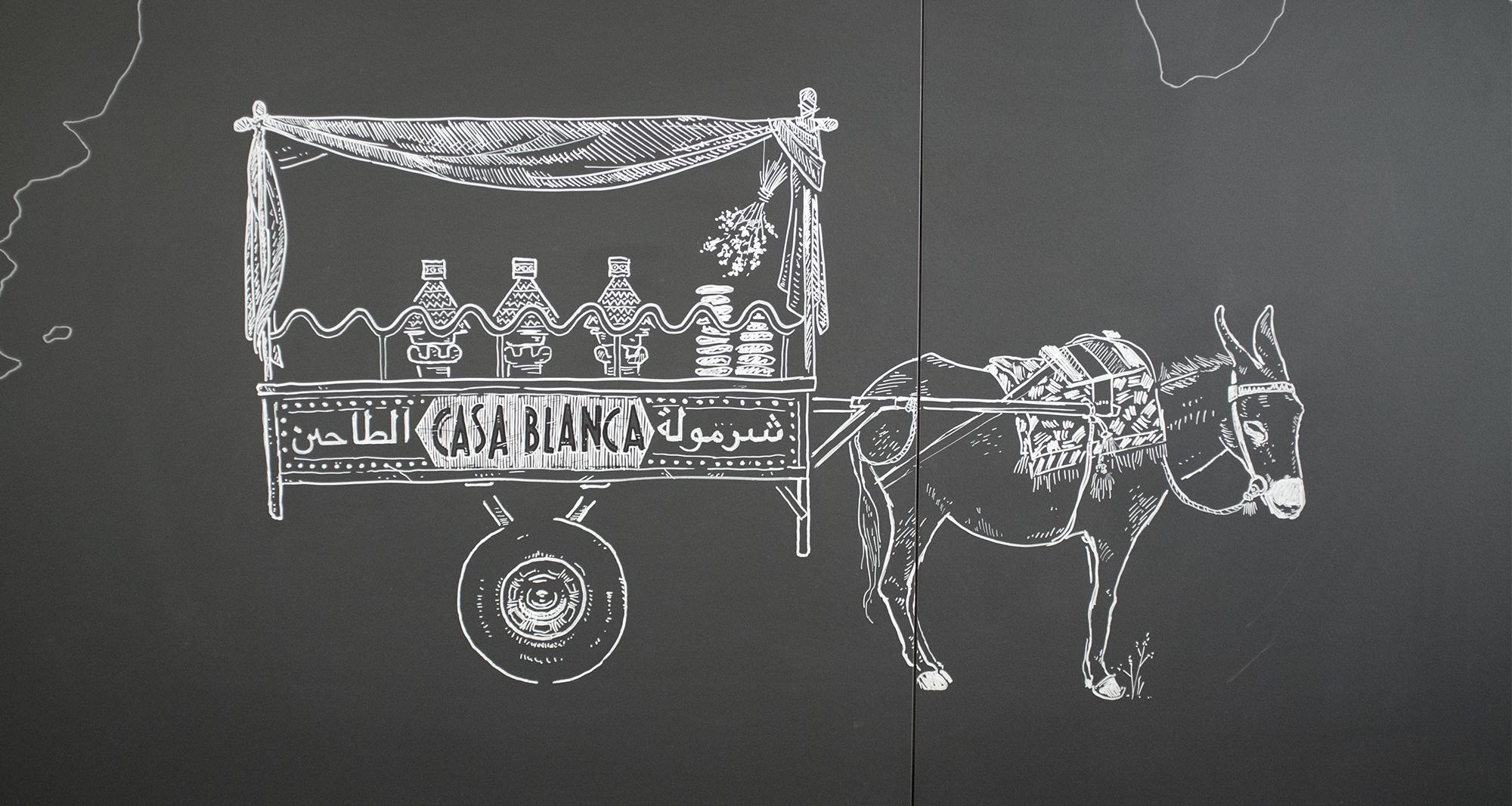eat.ch, Tagine Donkey, Wandgestaltung Schriftenmalerei, Wandbeschriftung, hand gemalt, Tafelbeschriftung, Tafelmaler