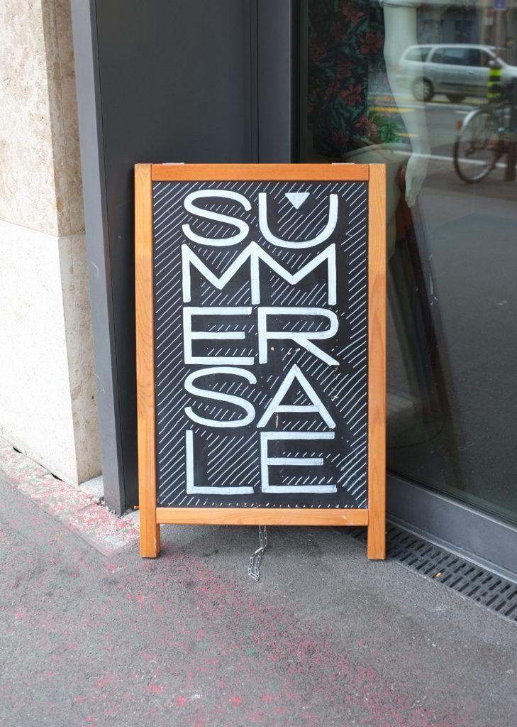 Feinraus, Summer Sale, Kundenstopper Kreidetafel, Schriftenmalerei, Wandbeschriftung, hand gemalt, Tafelbeschriftung, Tafelmaler